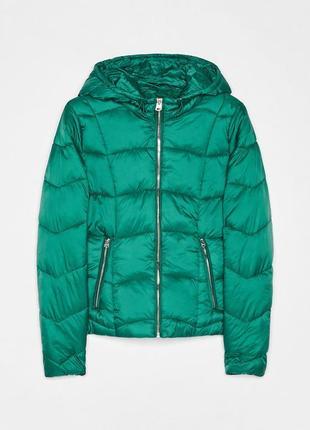 Новая теплая зеленая куртка bershka размер l5 фото
