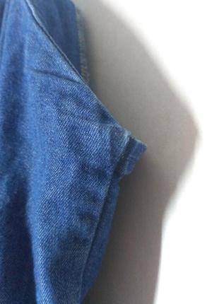 Джинсовый сарафан миди на пуговицах джинс7 фото