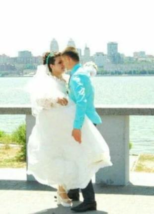 Свадебное платье в греческом стиле со шнуровкой,54,56,58 размер1 фото