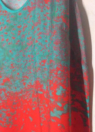 Сарафан макси оранжевый искусственный шелк m5 фото