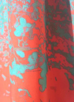Сарафан макси оранжевый искусственный шелк m6 фото