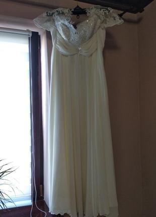 Свадебное платье в греческом стиле со шнуровкой,54,56,58 размер3 фото