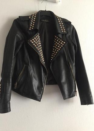 Кожаная куртка косуха1 фото