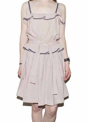 Платье с рюшами и поясом boutique by jaeger7 фото