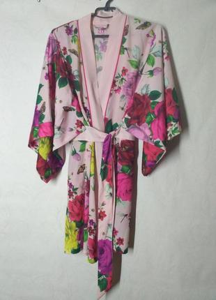 Халат кимоно цветочный принт b by ted baker debenhams1 фото