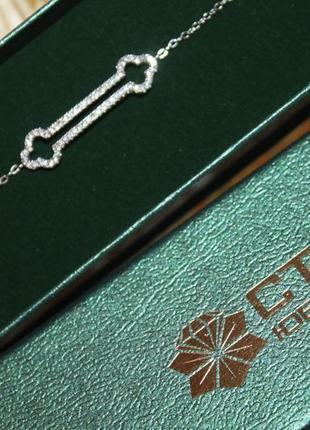 Шикарный новый браслет серебро камни сваровски6 фото