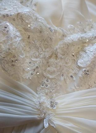 Свадебное платье в греческом стиле со шнуровкой,54,56,58 размер6 фото