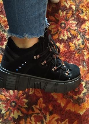 Високі кросівки высокие кроссовки ботинки4 фото