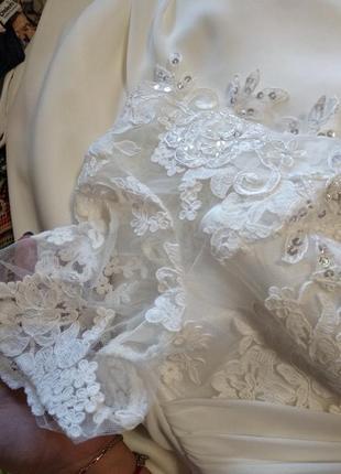 Свадебное платье в греческом стиле со шнуровкой,54,56,58 размер7 фото