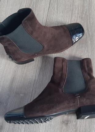 Ботинки ботильоны замш1 фото
