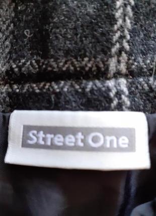 Шикарная стильная с карманами на подкладке юбка street one большого размера4 фото