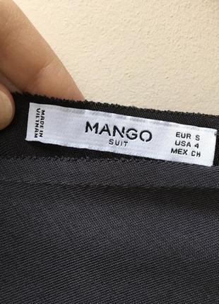 Серое элегантное платье миди mango5 фото