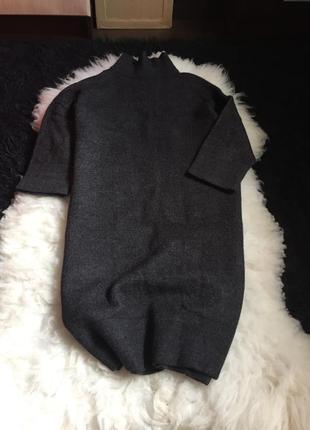 Платье 3/4 рукав 30% альпака 25 % шерсть оригинал set италия горловина свитер вязаное2 фото