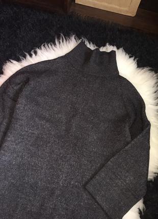 Платье 3/4 рукав 30% альпака 25 % шерсть оригинал set италия горловина свитер вязаное6 фото
