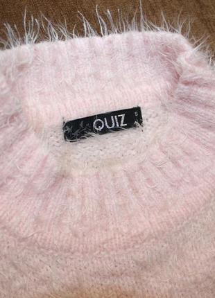 Свитер кофта травка розовый пудровый xs укороченный5 фото