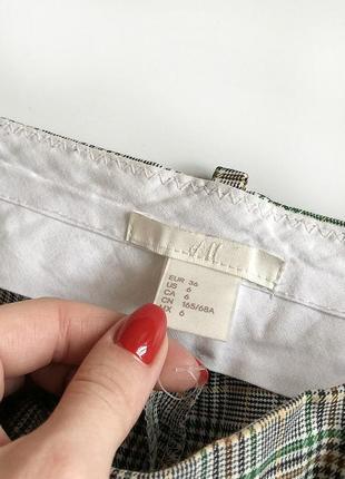 Обалденные зауженные брюки в клетку с высокой посадкой h&m7 фото