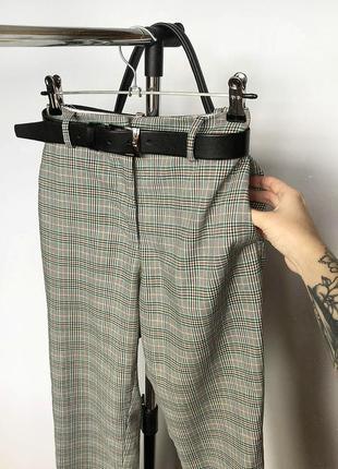 Обалденные зауженные брюки в клетку с высокой посадкой h&m5 фото