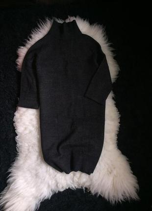 Платье 3/4 рукав 30% альпака 25 % шерсть оригинал set италия горловина свитер вязаное4 фото