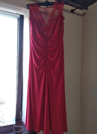 Красное вечернее платье1 фото