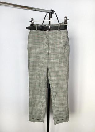 Обалденные зауженные брюки в клетку с высокой посадкой h&m4 фото