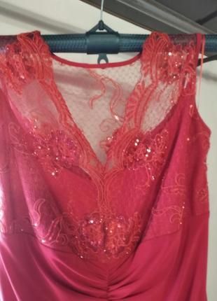 Красное вечернее платье3 фото
