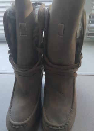 Сапоги, ботинки зимние на танкетке3 фото