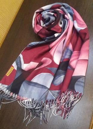 Роскошный кашемировый шарф шаль абстракция1 фото