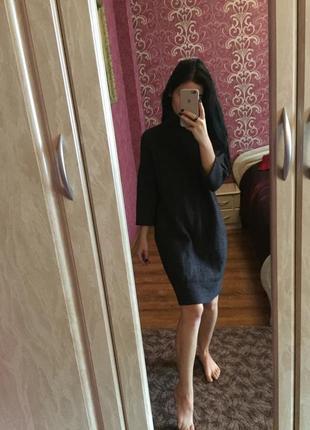 Платье 3/4 рукав 30% альпака 25 % шерсть оригинал set италия горловина свитер вязаное10 фото