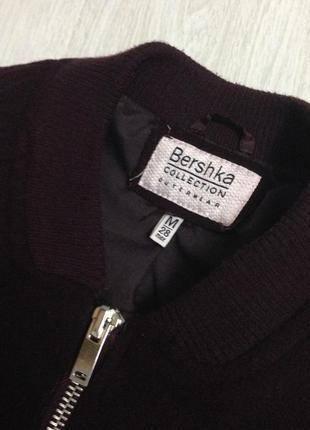 Пальто бомбер куртка bershka марсала бордо теплое2 фото