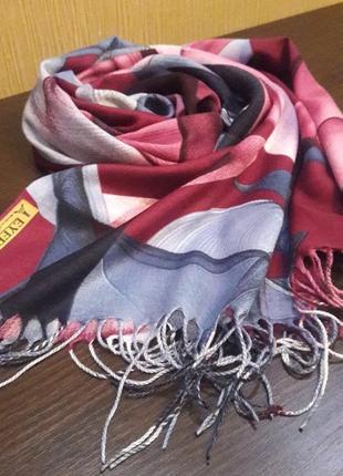 Роскошный кашемировый шарф шаль абстракция2 фото