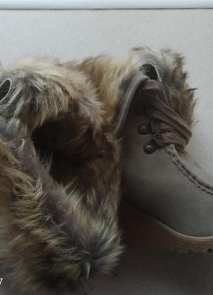 Сапоги, ботинки зимние на танкетке5 фото