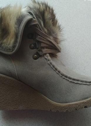 Сапоги, ботинки зимние на танкетке6 фото