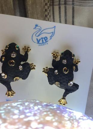 Серьги лягушки3 фото