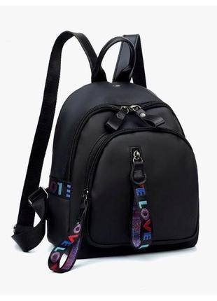 Хит ! стильный женский рюкзак-сумка. черный. жіночий рюкзак2 фото