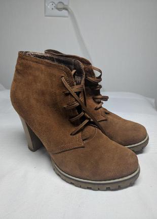 Ботинки замшевые1 фото