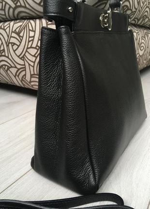 Очень деликатная и вместительная кожаная сумка италия2 фото