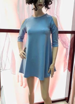 Плаття міні коротке з вирізомна руках1 фото