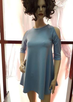 Плаття міні коротке з вирізомна руках3 фото