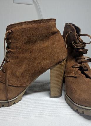 Ботинки замшевые8 фото