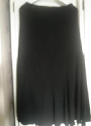 Черная шикарная юбка на подкладке agb.размер 461 фото