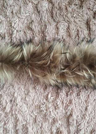 Мех на капюшон из нат.енота1 фото