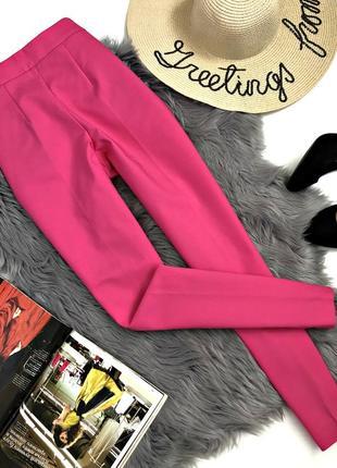 Шикарные яркие плотные классические брюки