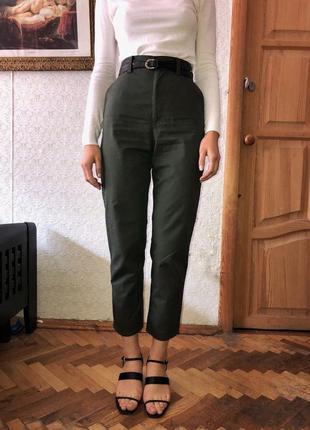 Штаны брюки cos цвет хаки1 фото