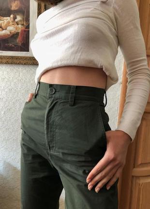 Штаны брюки cos цвет хаки5 фото