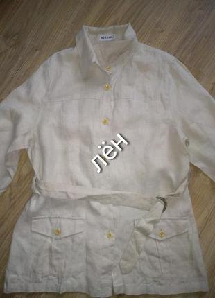Стильный льняной пиджак1 фото