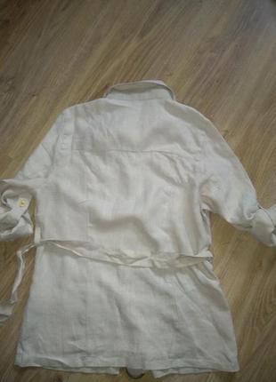 Стильный льняной пиджак2 фото