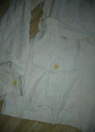 Стильный льняной пиджак3 фото