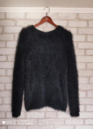 Свитер травка. свободный свитер. свитер вязаный большой размер3 фото