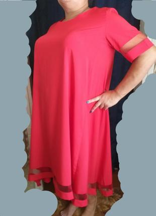 Платье вечернее длинное евро-бенгалин+евро-сетка1 фото