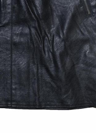Юбка с молниями из эко-кожи diffuse5 фото